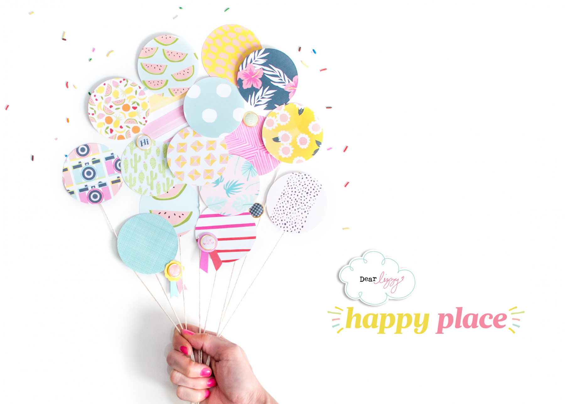 Dear Lizzy Happy Place Scrapbooking