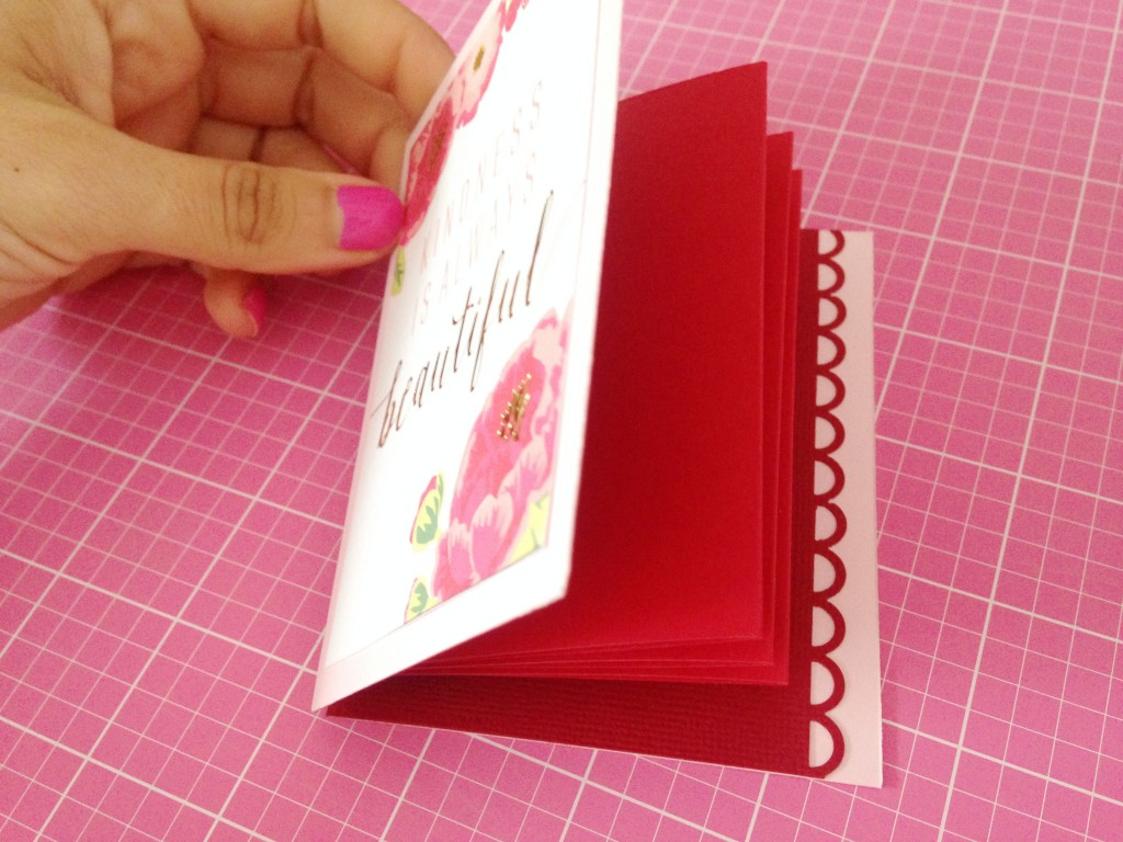 tutorial mini album rojo flores