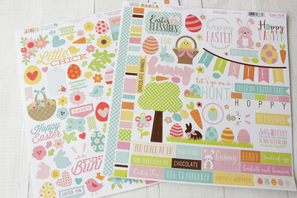 Stickers Pascua Scrapbooking