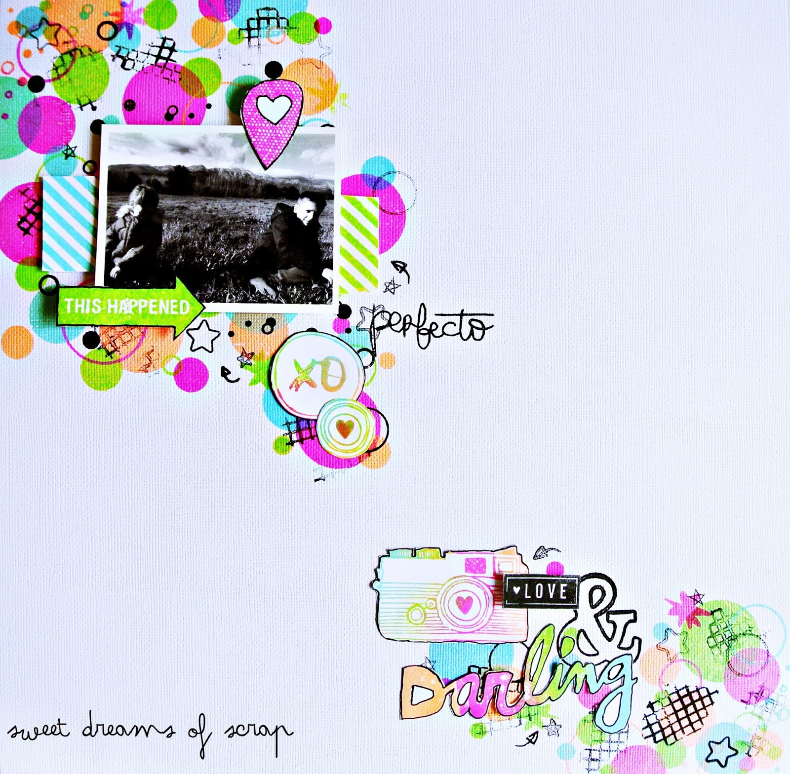 Layout sellos scrapbooking