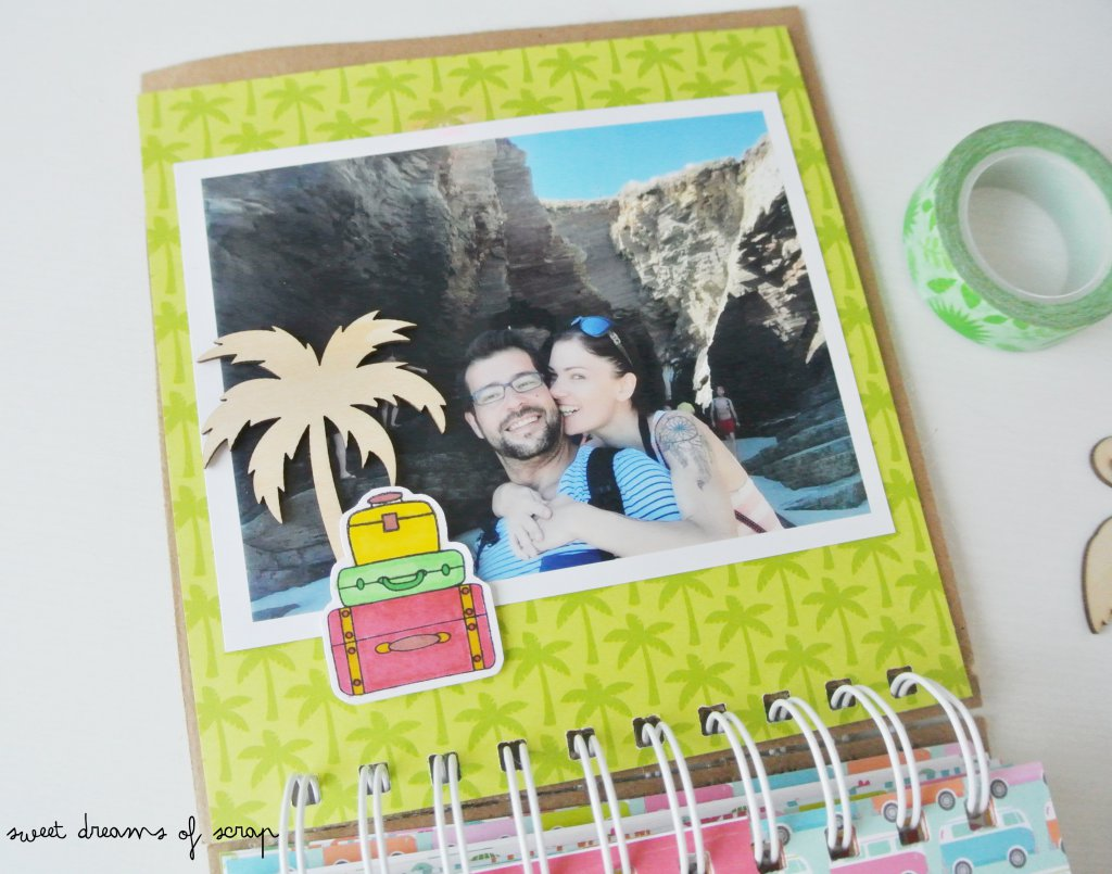 Idea decoración mini album verano