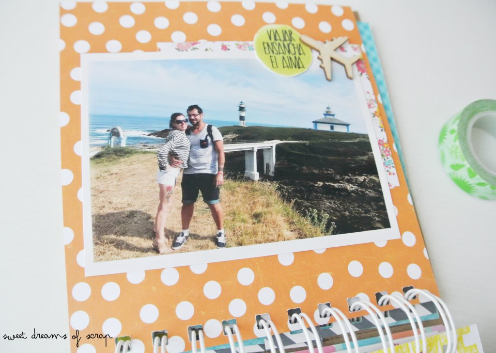 Decorar album scrapbooking viajes