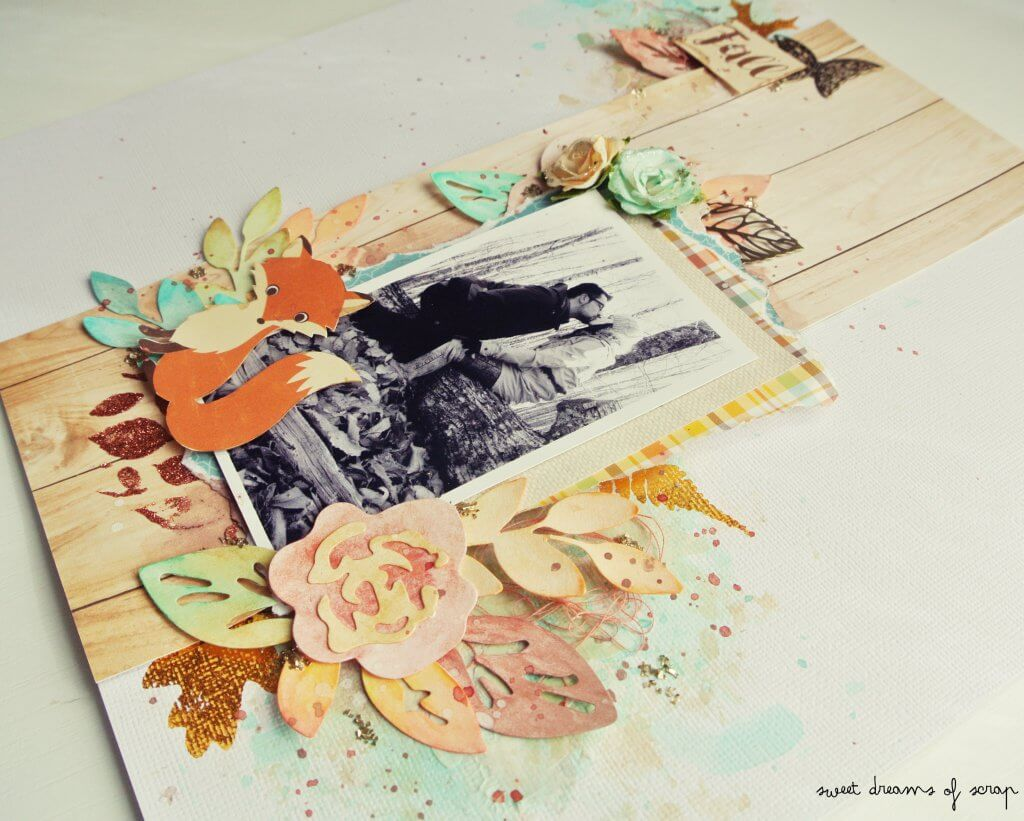 Layout otoñal scrapbooking