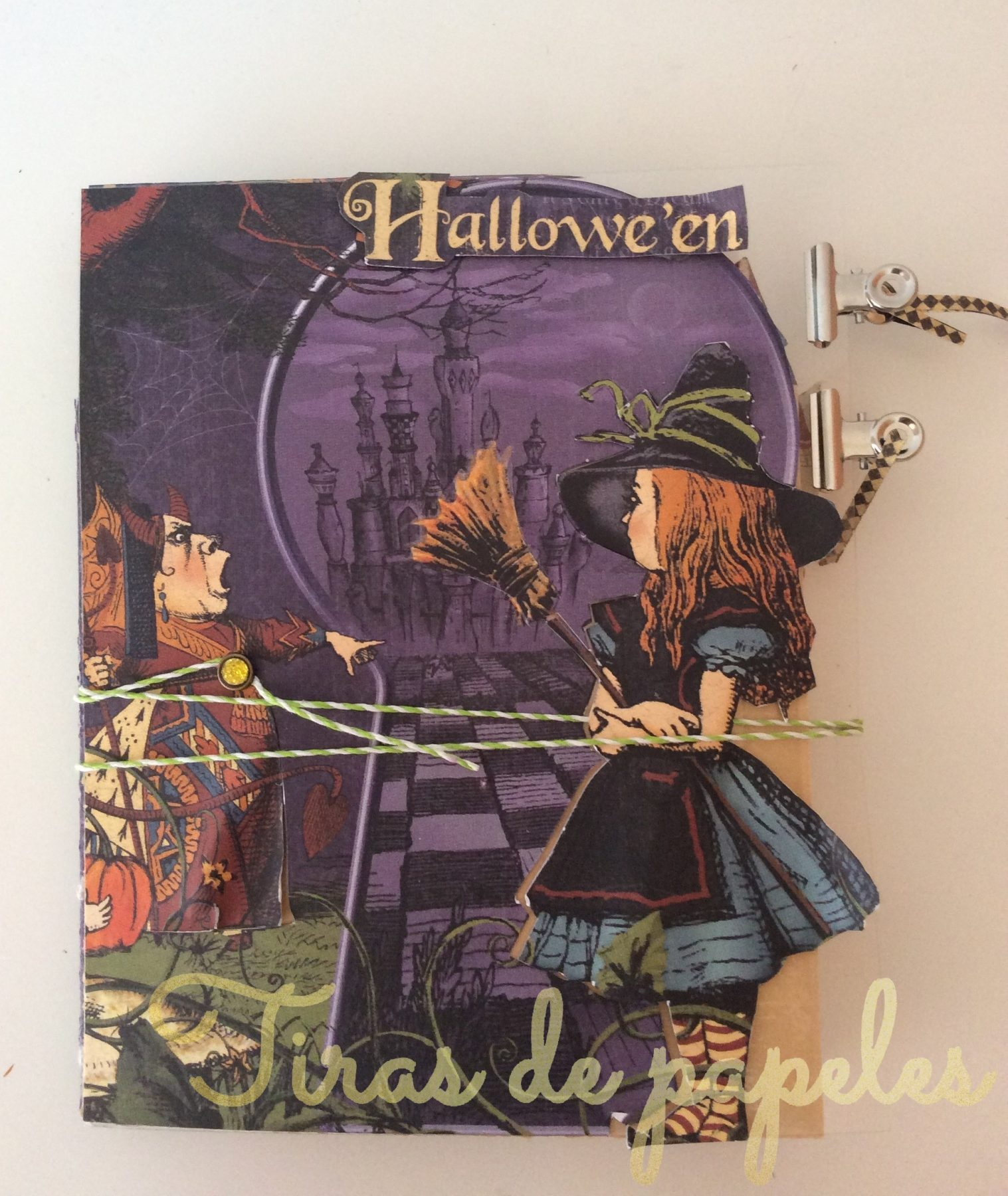 Tutorial Mini Album Pop Up Alice in Halloween