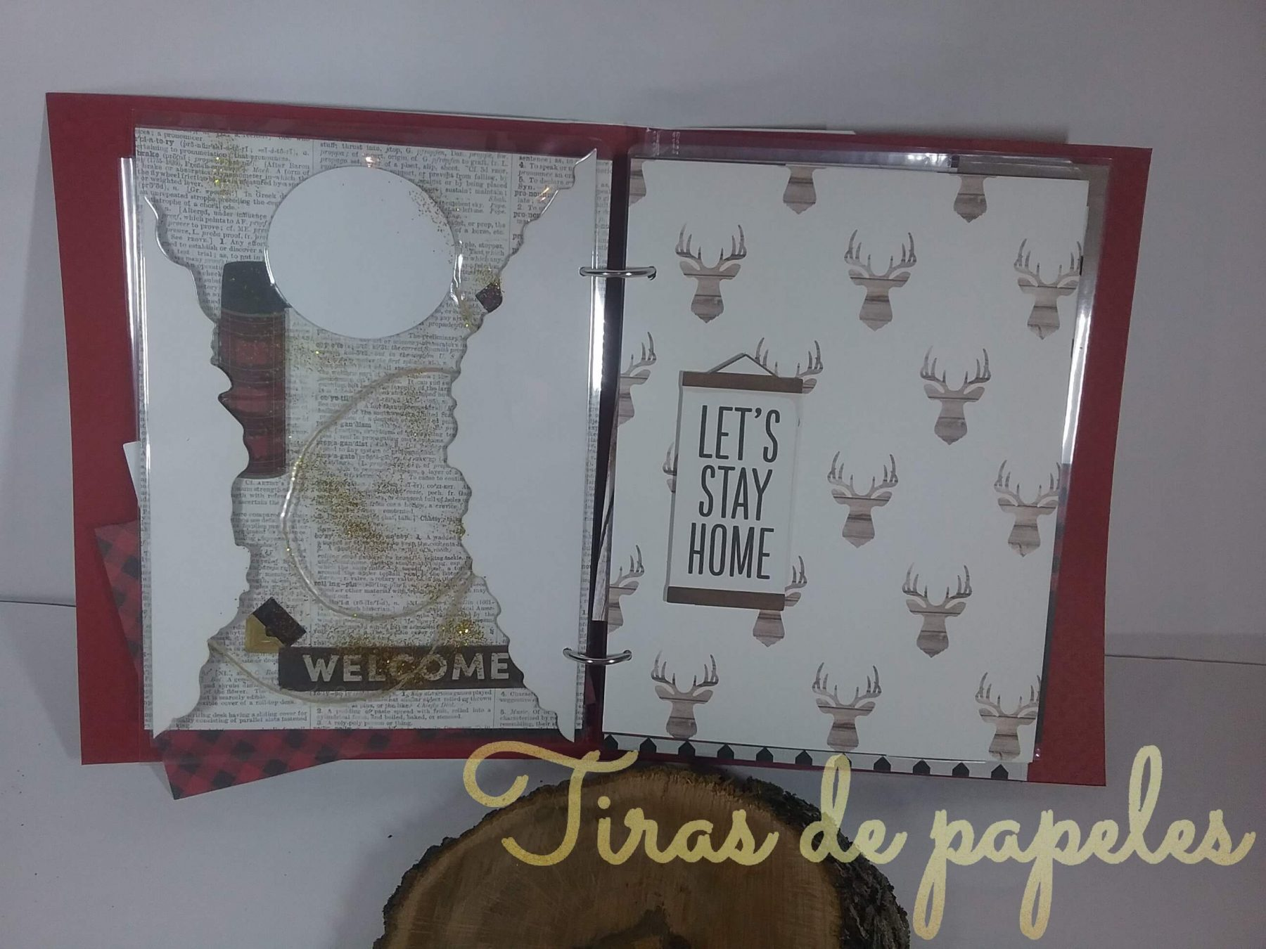 Decoración página interior scrapbooking