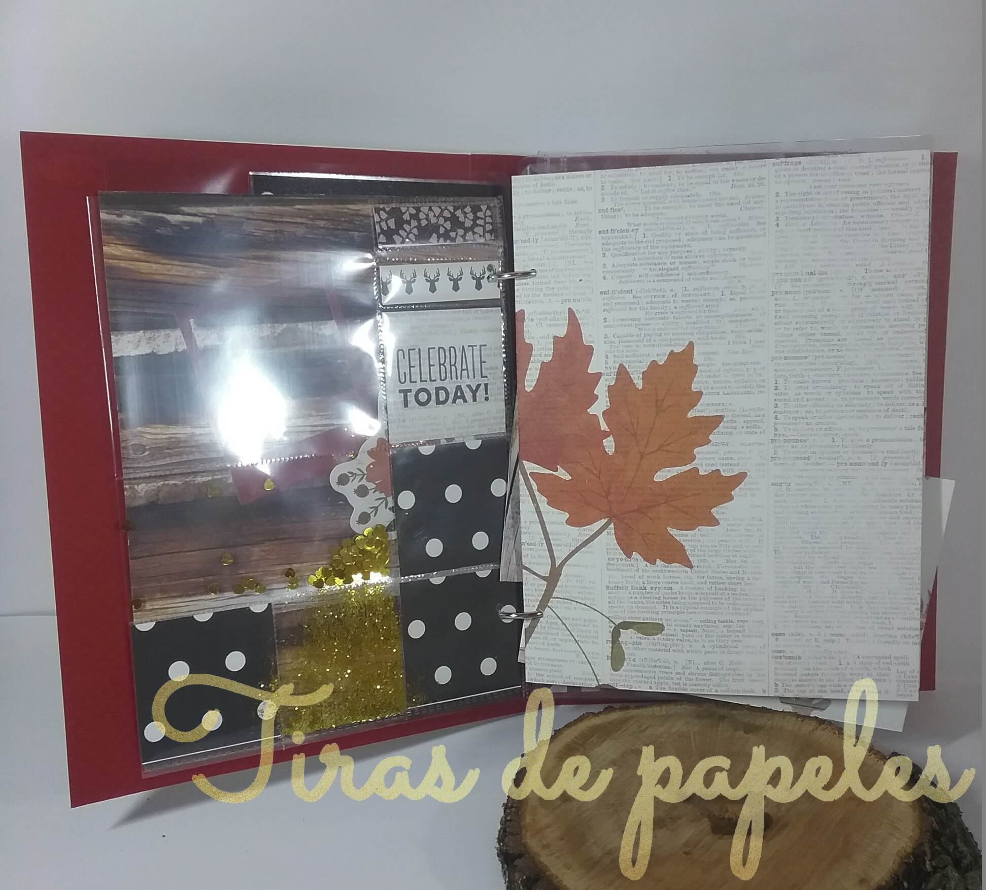 Decorar paginas interiores mini album