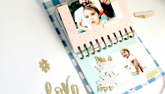 Mini Album Scrap con Anillas