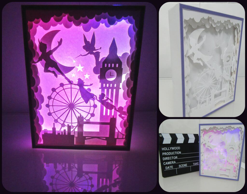 Peter Pan light box handmade