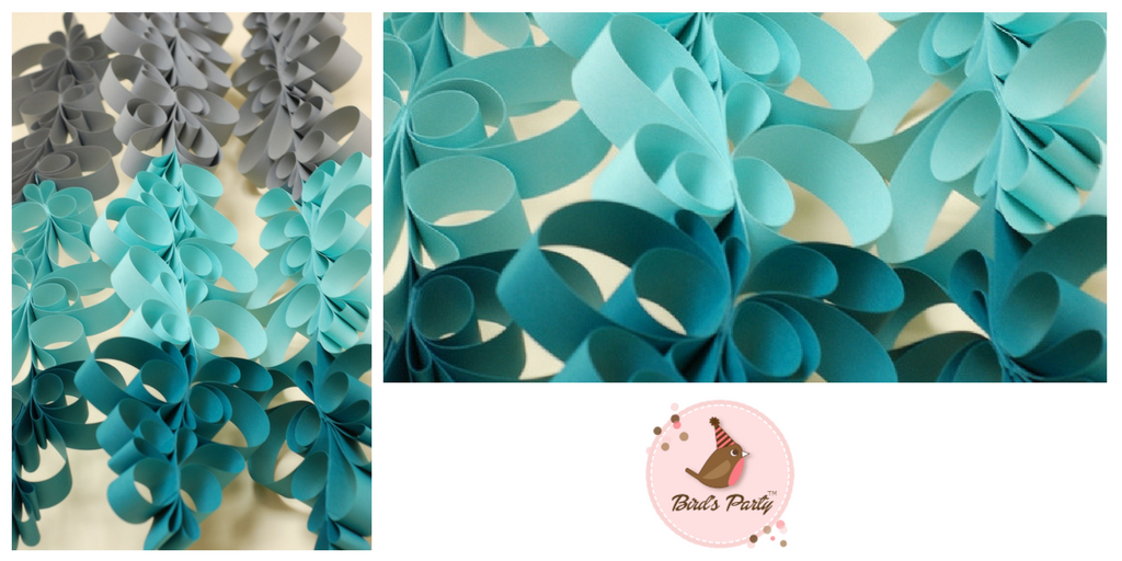 Guirnalda de papel DIY degradado