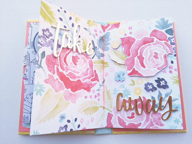 Adornos Interior Mini Album Scrapbooking