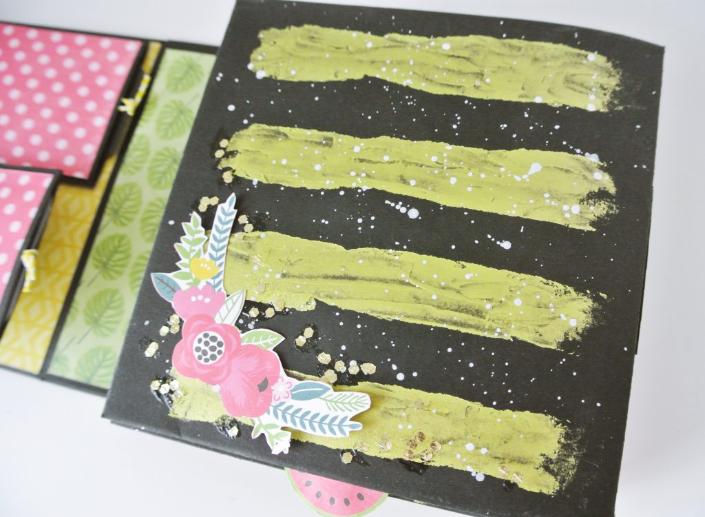 Decoración Portada Mini Album Scrap