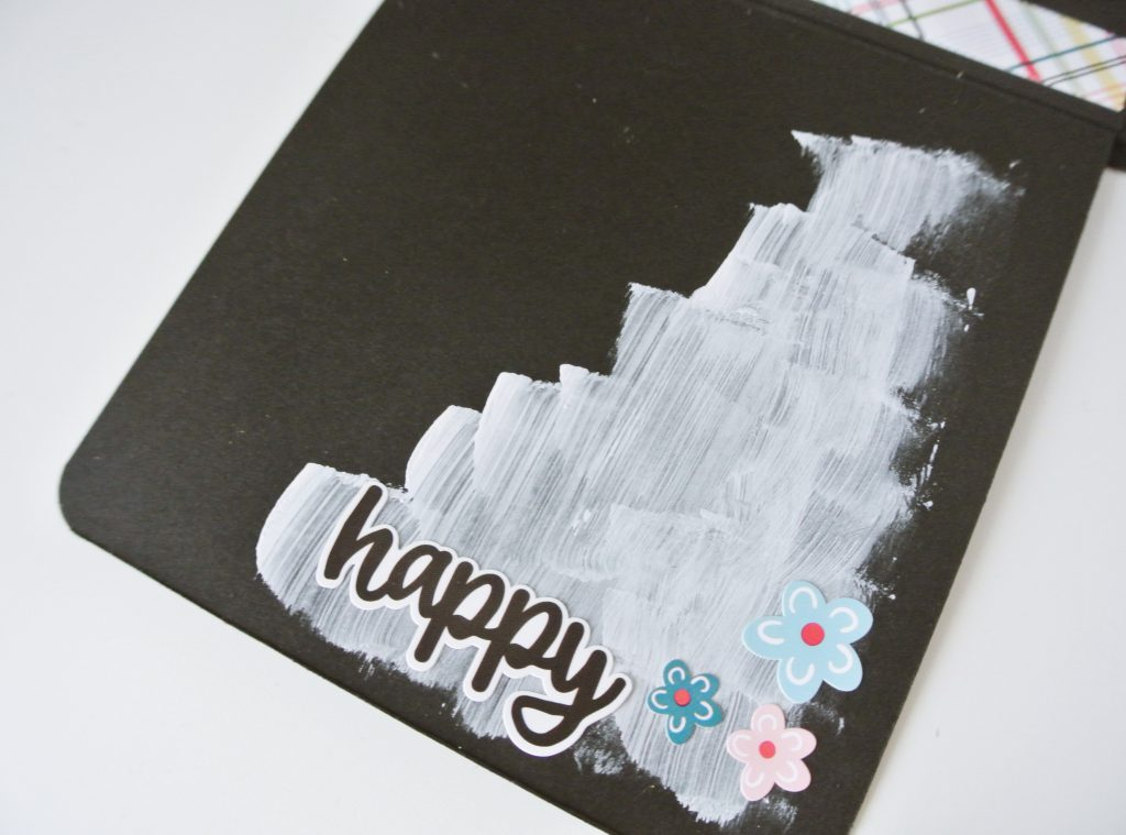 Decoración desplegable mini album scrapbooking