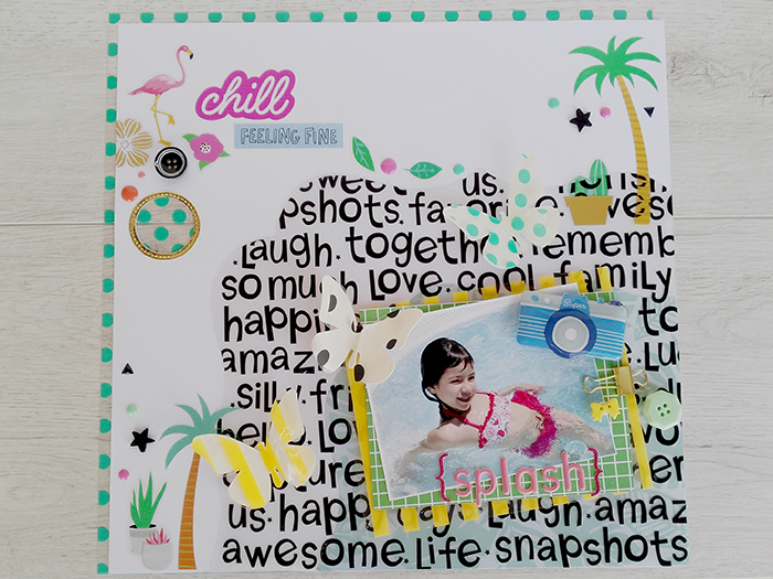 Layout con acetato de letras
