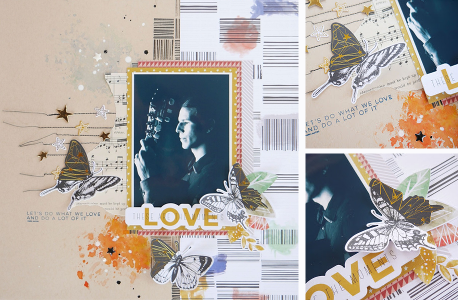 love music scrapbooking