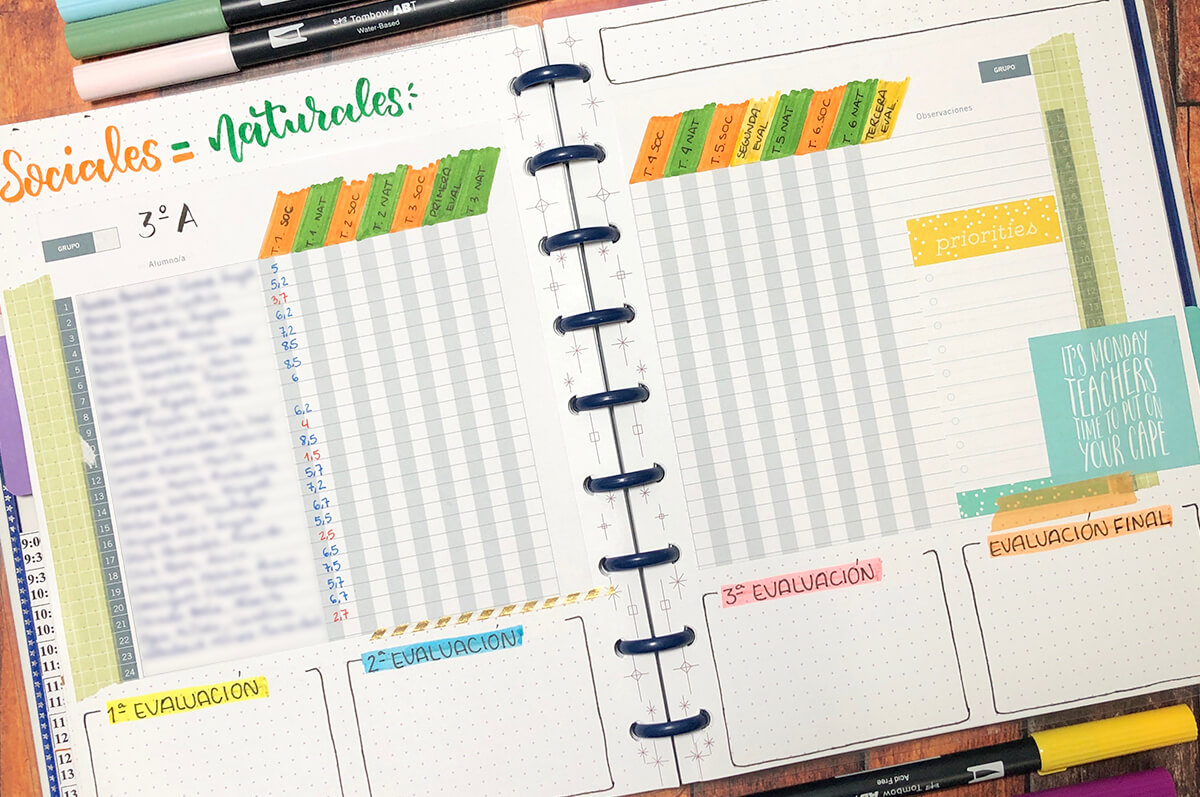 Bullet journal ideas para maestros