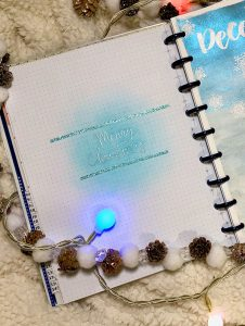 Bullet Journal: embossing Christmas