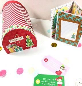 Snail Mail de Navidad con Christmas Magic de Doodlebug