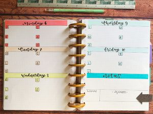 Bullet journal organizacion semanal