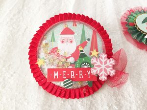Shaker scrapbooking Holly Jolly