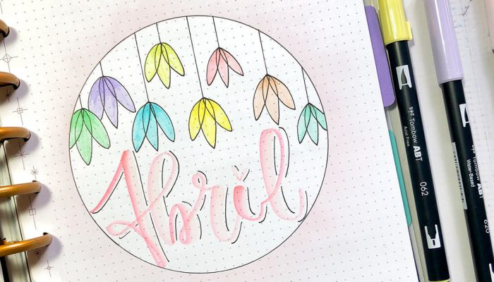 Bullet Journal de abril con Tombow