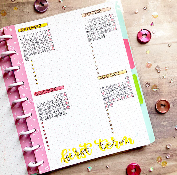 Imprescindibles bullet journal para profesores: registro