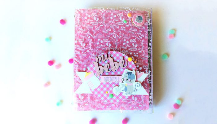 Mini álbum bebé scrapbook