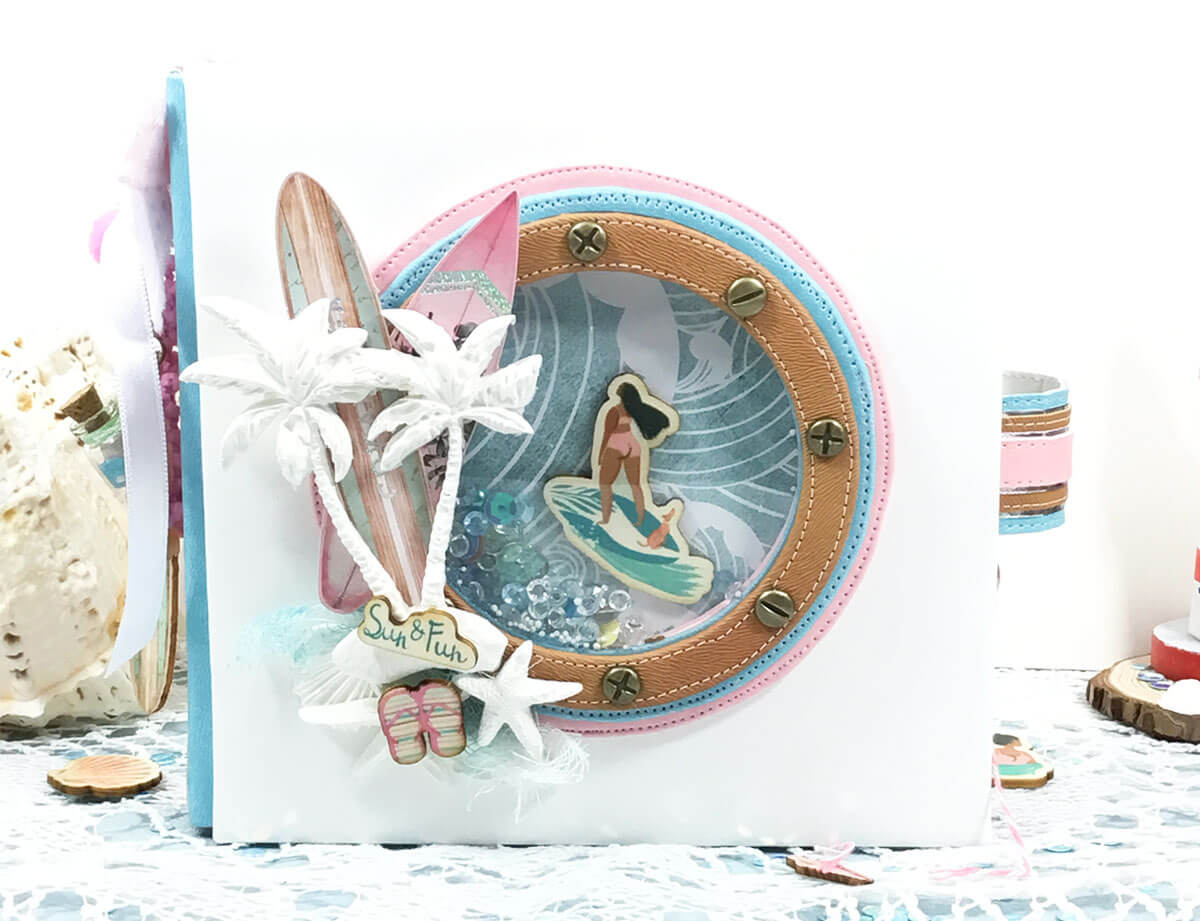 Álbum de scrapbooking marinero