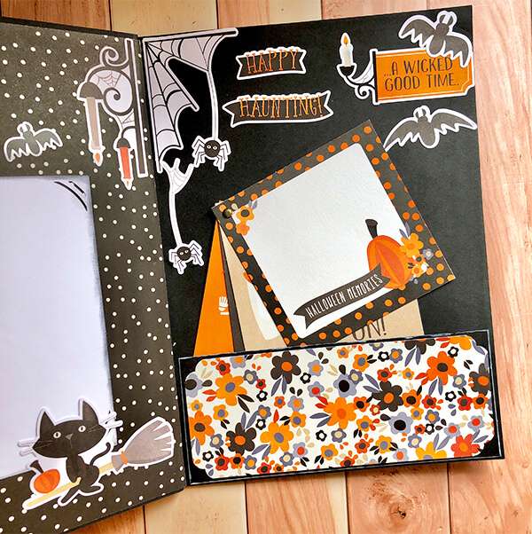 Contraportada álbum scrap Halloween con Simple Stories